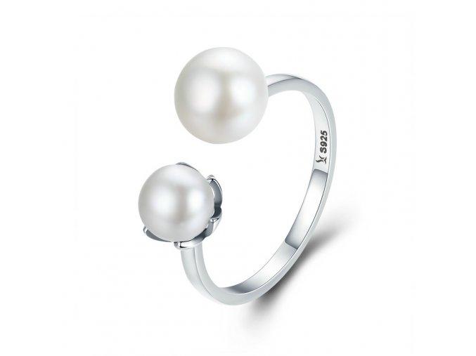 pandjjewellery stribrny prsten perly