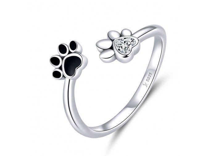 pandjjewellery stribrny prsten psi tlapky