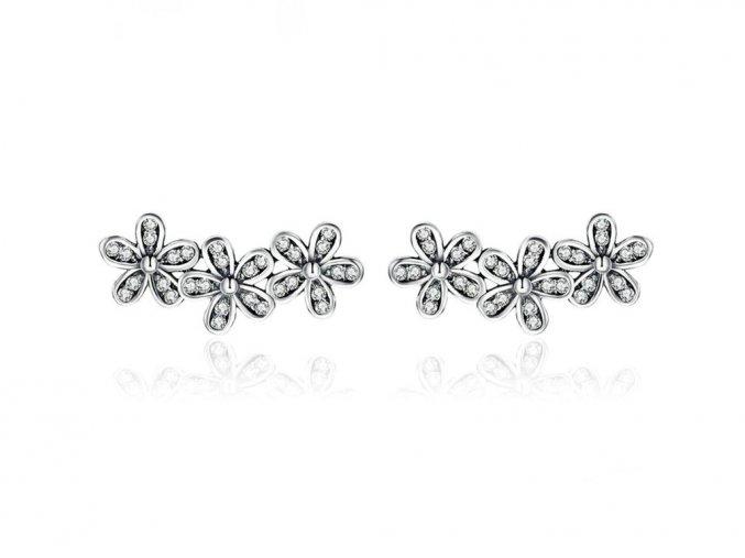 pandjjewellery stribrne nausnice kvetinky2