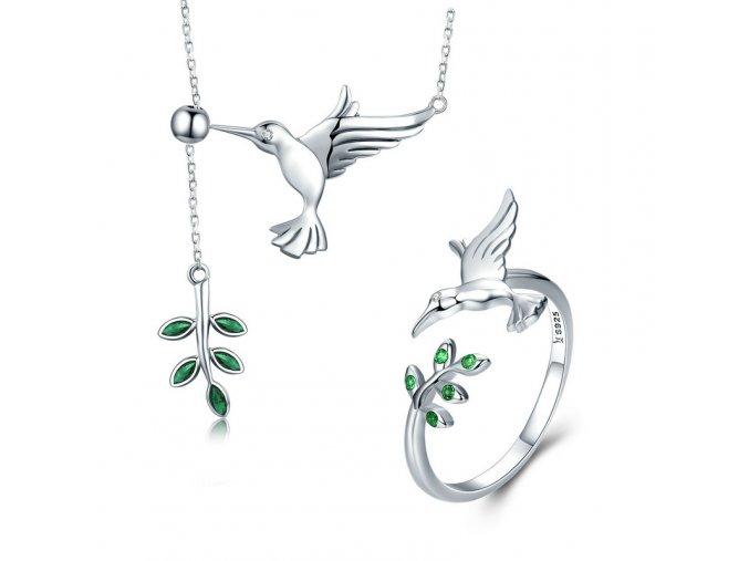 pandjjewellery stribrny prsten poletavy kolibrik1