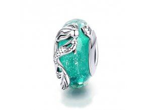 pandjjewellery skleneny privesek morska panna