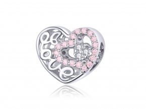 pandjjewellery stribrny privesek Srdce Love(1)