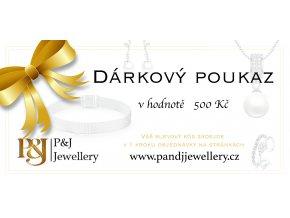 darkovy poukaz v hodnote 500Kc pandjjewellery.cz