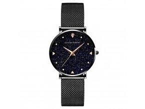 Hannah Martin stříbrné hodinky XK36 černé
