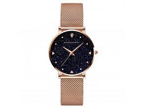 Hannah Martin stříbrné hodinky XK36 růžové zlato