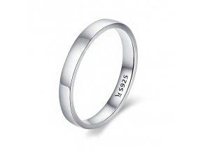 Stříbrný hladký prsten SRP33