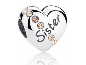 Stříbrný přívěsek Sestra SB6