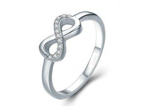 P&J Stříbrný prsten Navždy spolu SRP3