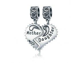 f 145stribrny privesek spojeni matka s dcerou
