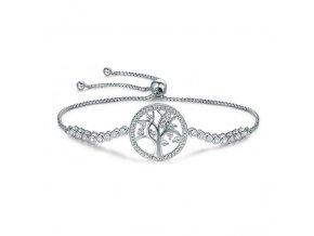 Stříbrný náramek Strom života