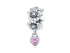 pandjjewellery stribrny visaci privesek milovane kvetiny