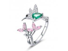pandjjewellery stribrny prsten kolibrik