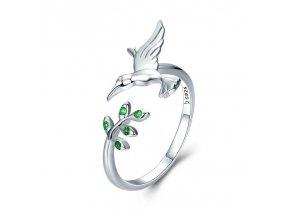 pandjjewellery stribrny prsten poletavy kolibrik
