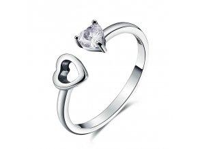 pandjjewellery stribrny prsten totozne srdce