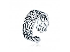 pandjjewellery stribrny prsten kvetinovy venec