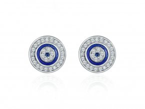 pandjjewellery stribrne nausnice modre oko