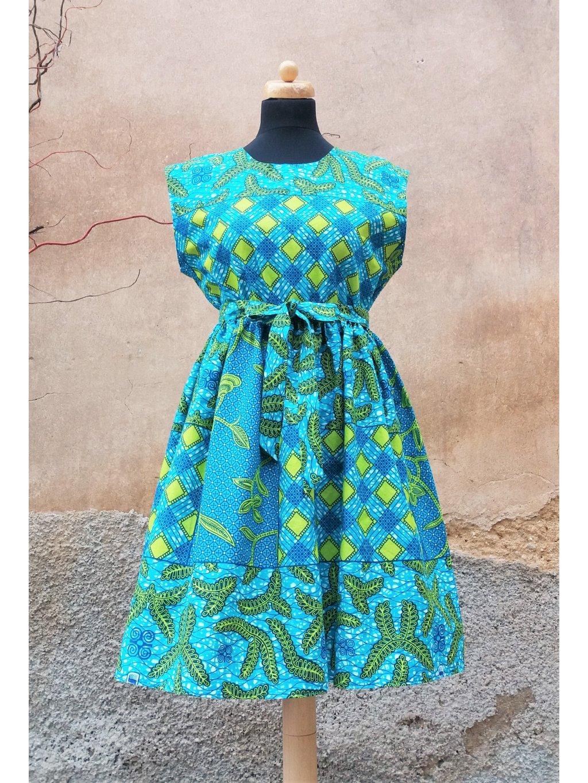 Šaty blankytně modré