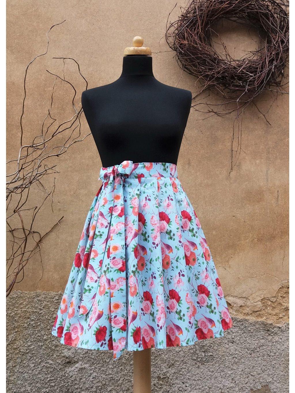 Krátká zavinovací  - ptačí sukně