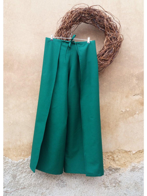 Zavinovací kalhoty smaragdové