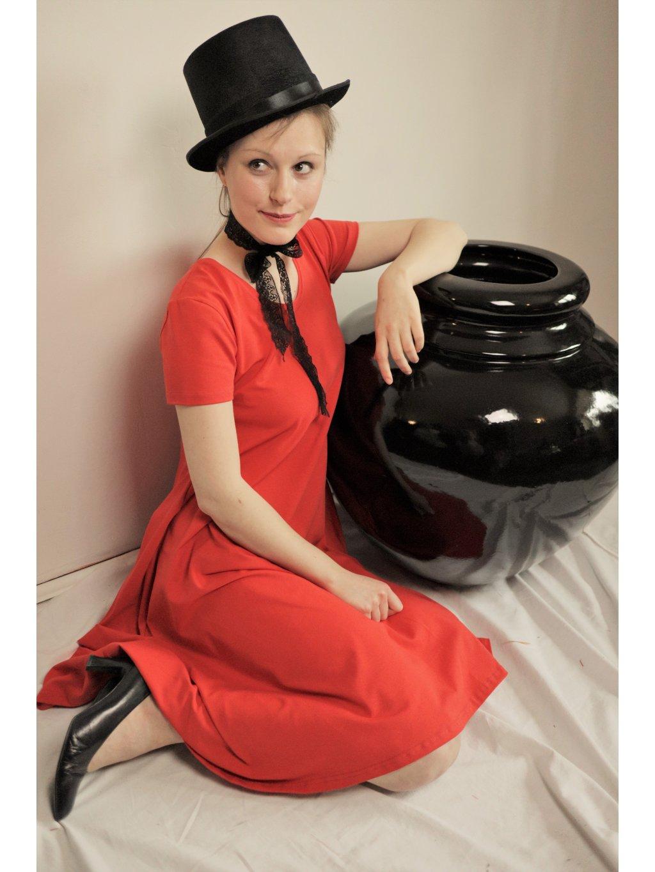 Elegantní úpletové červené