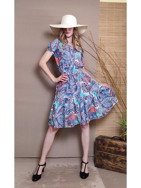 Krátké šaty modrý design