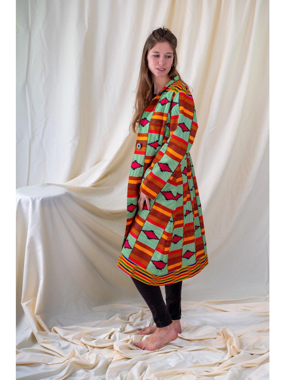 Kabát zelený kente