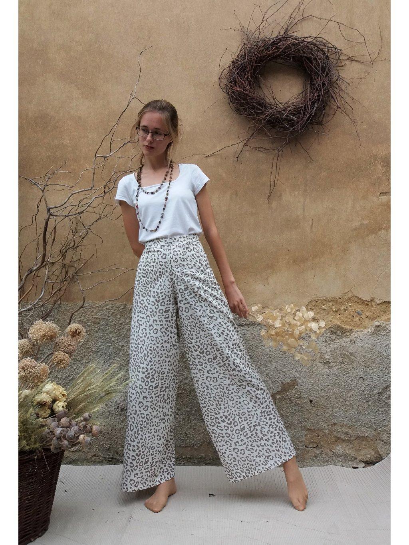 Leopardí kalhoty heboučké