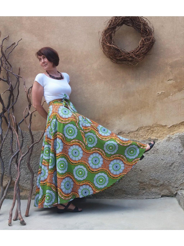 Afrika zelenooranžová - kolová