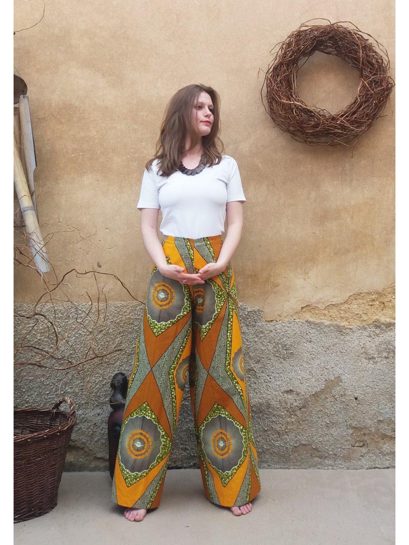 Zavinovací kalhoty - slunce v buši