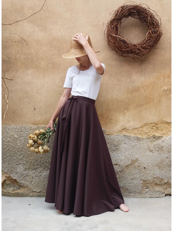 Kolová sukně - čokoláda
