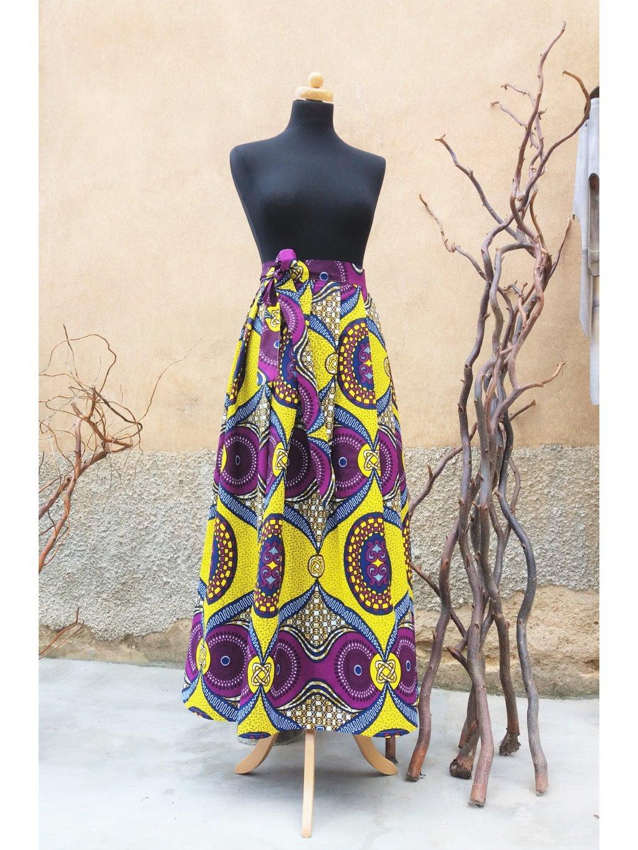 Afrika fialové ornamenty