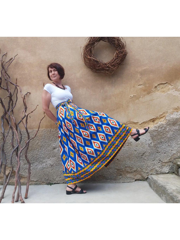 Sukně modrá kente
