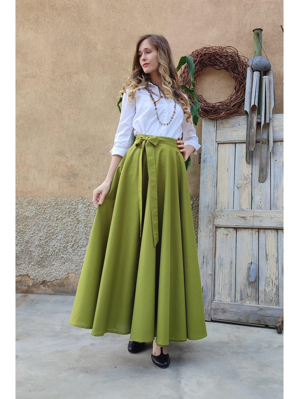 Kolová sukně hrášková