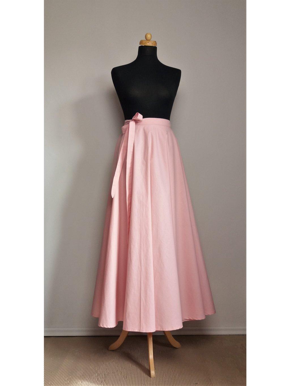 Kolová sukně starorůžová světlá