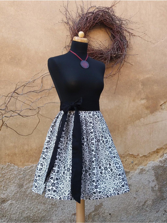 Sukně černobílé kontrasty