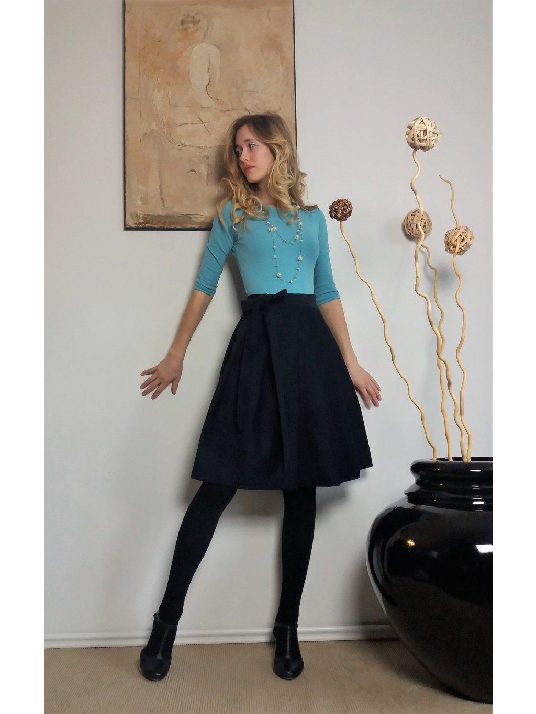 Krátká manšestrová sukně modrá