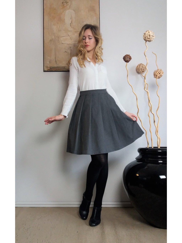 Krátká sukně kohoutí stopa