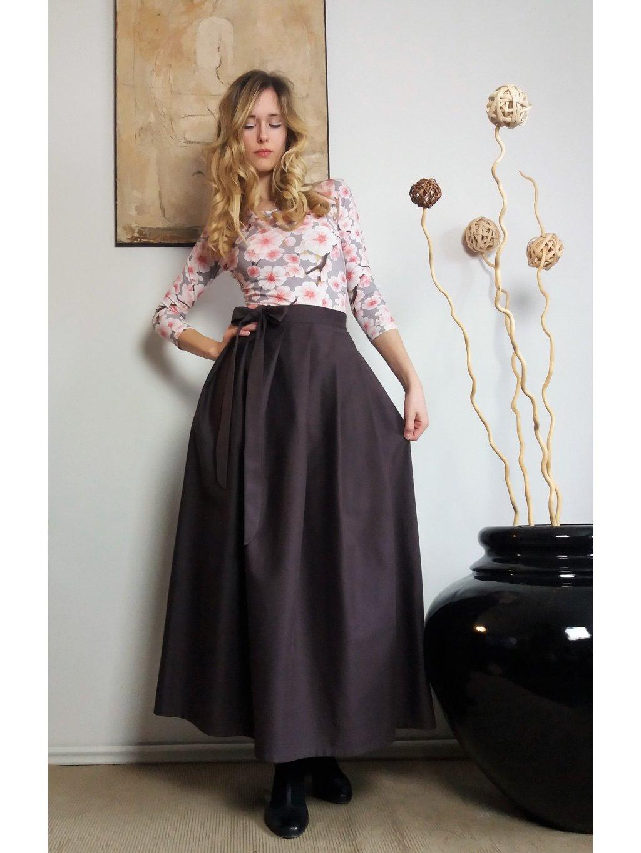Dlouhá sukně fialová