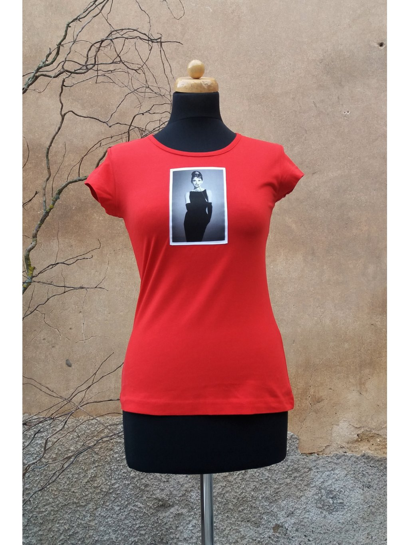 Červené triko Audrey