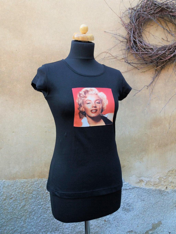 Černé triko Marilyn