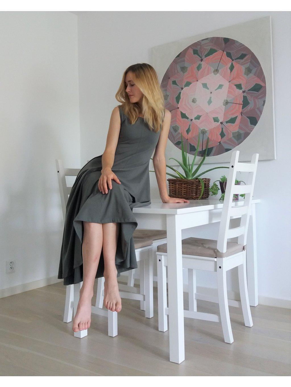 Elegantní khaki dlouhé