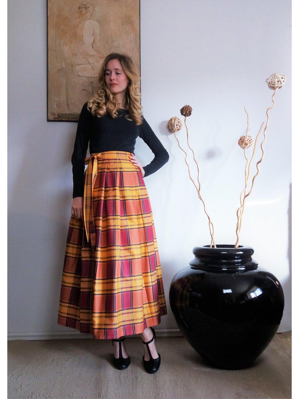 Dlouhá zavinovací sukně - kostka