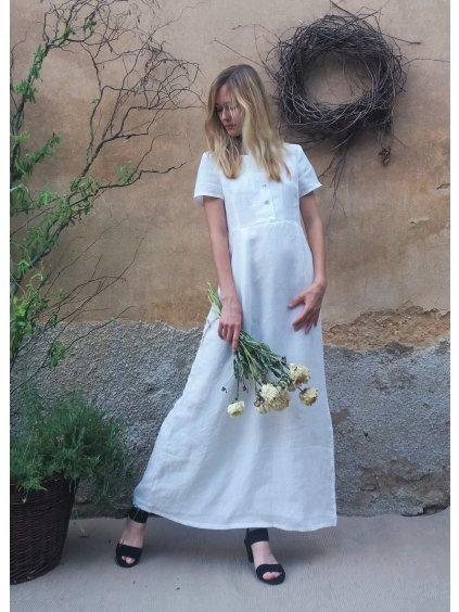 Lněné šaty - dlouhé