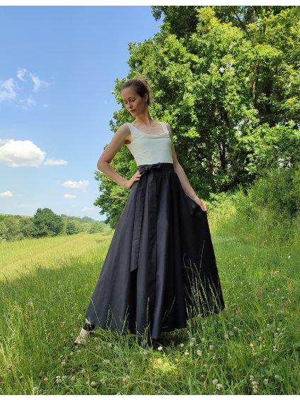 Kolová sukně černá