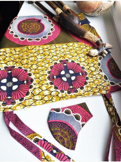 Africká taška - červené mandaly
