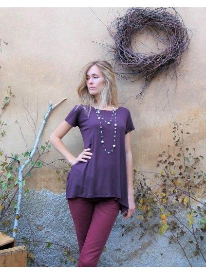 Elegantní tunika fialová