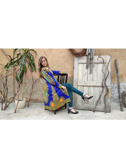 Kabát makenzi modrý