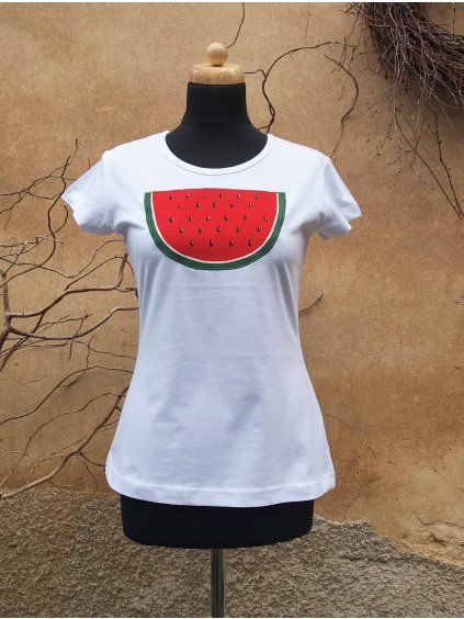 Bílé triko meloun