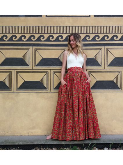 Afrika - Sukně červená