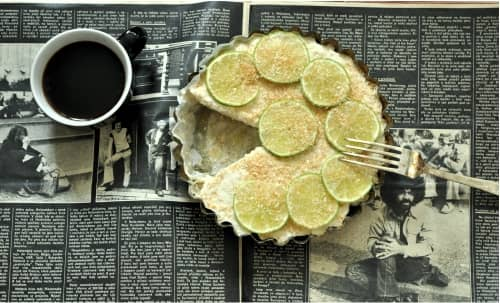 RECEPT - Kokosovo limetový tart